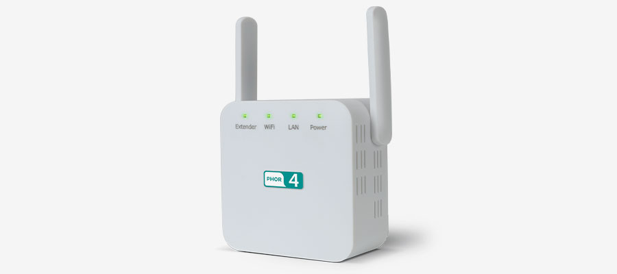 An image displaying the PH0R 4 WiFi Booster