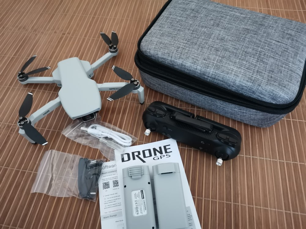 Box of Sky line Drone after unboxed