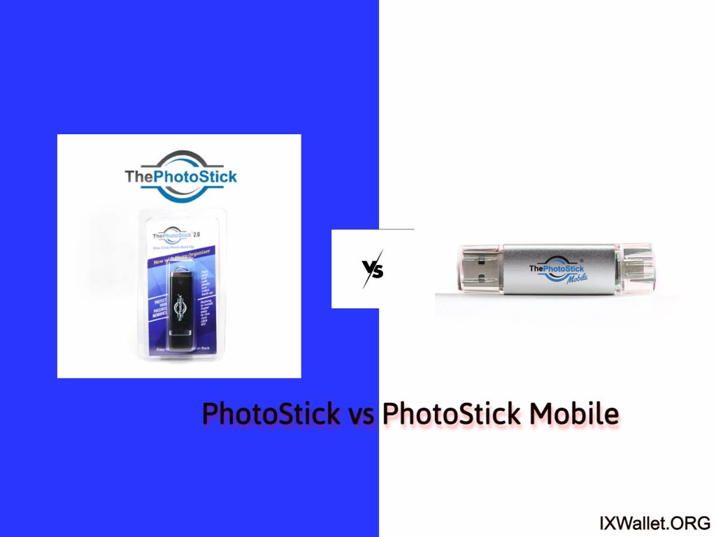 Image is depicting Photostick vs Photostick Mobile Difference