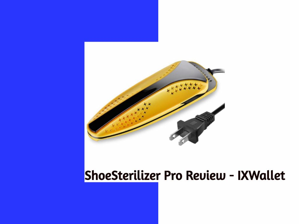 An image having ShoeSanitizer Pro Review written