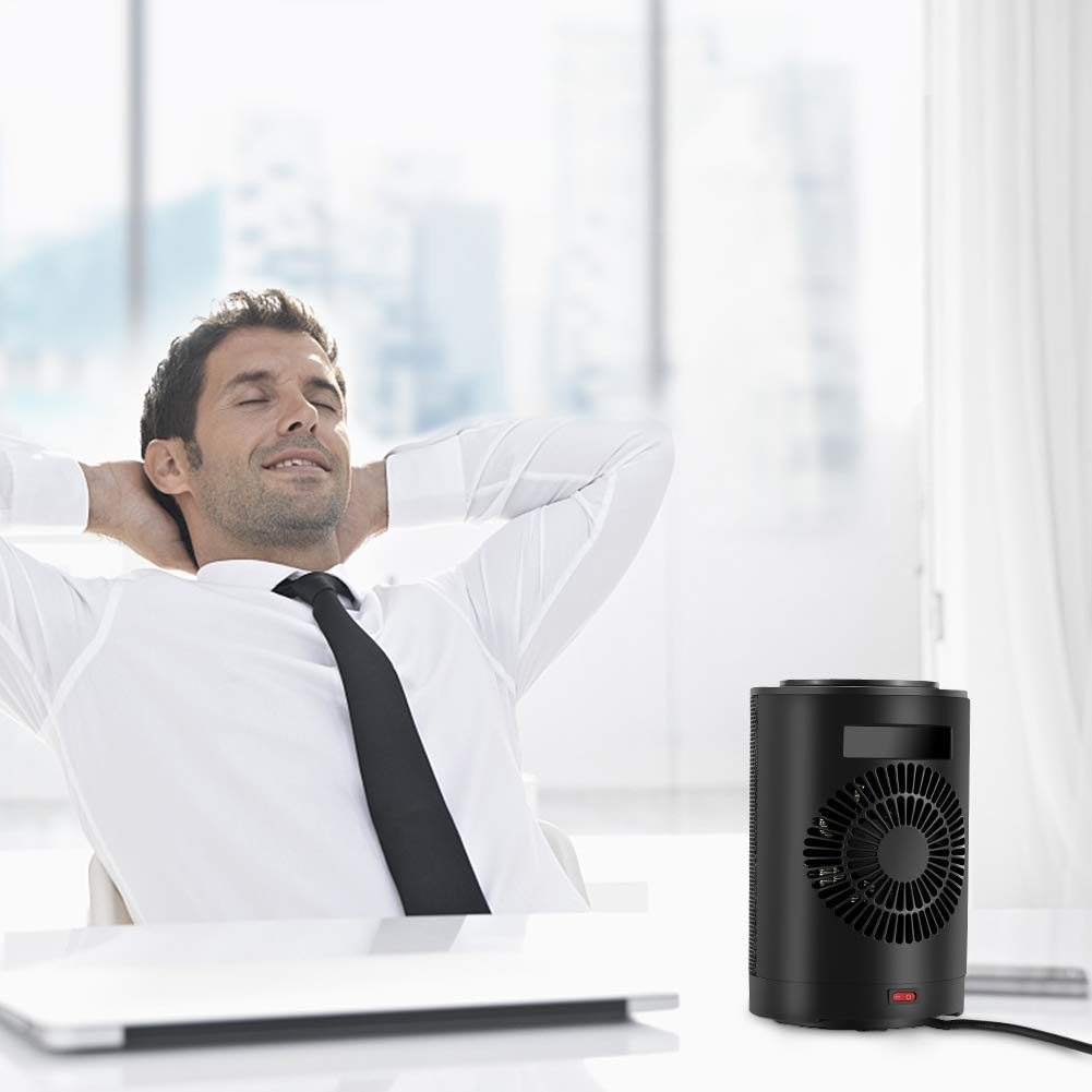 A person using Ecoheat S in office